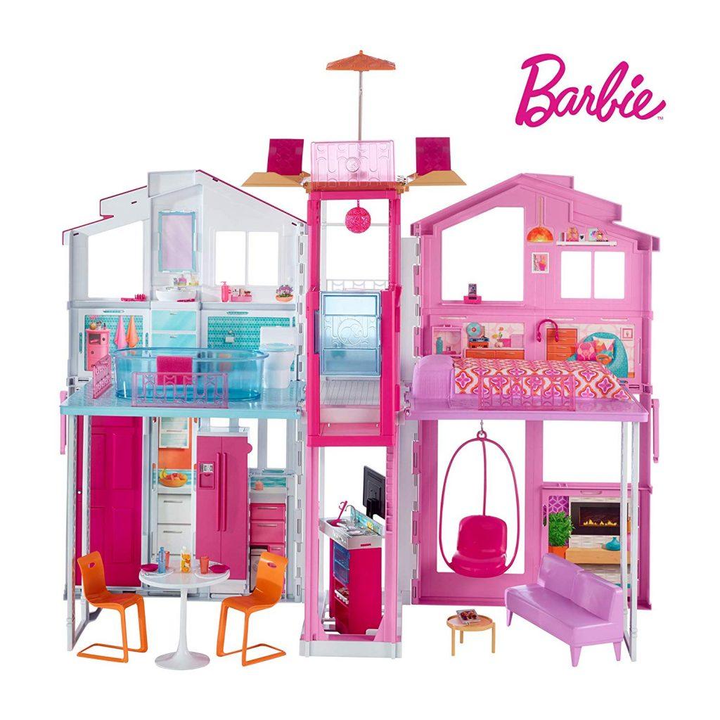 Cette maison Barbie de luxe peut se transporter facilement.