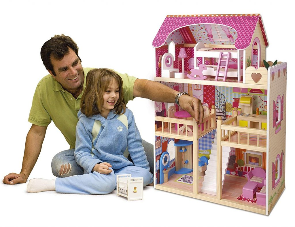 La maison de poupée en bois Leomark est le cadeau parfait pour combler les petites filles.