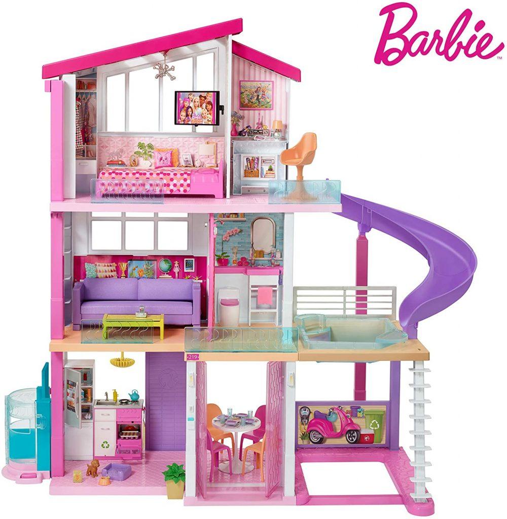La maison Dream House Barbie dispose d'un toboggan et de nombreuses autres prestations de luxe.