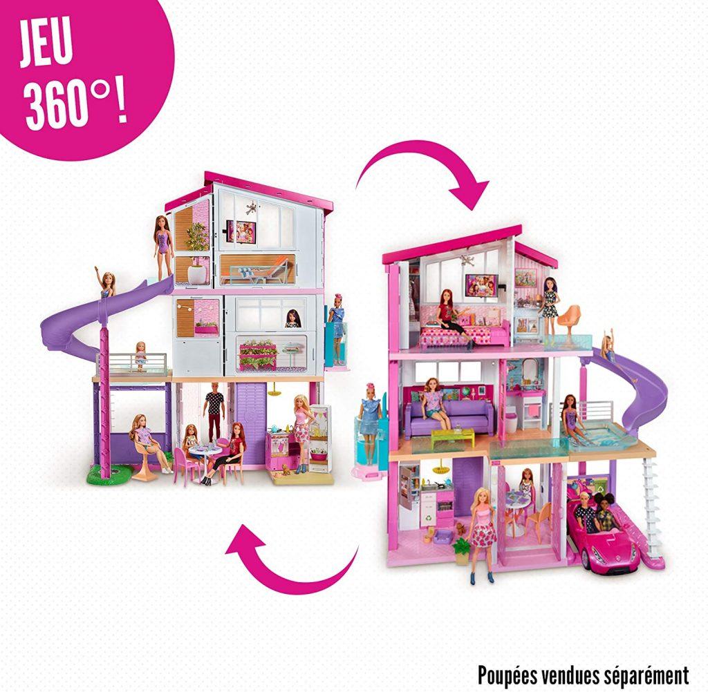 La maison de Barbie Dream House propose un espace de jeu à 360 °.