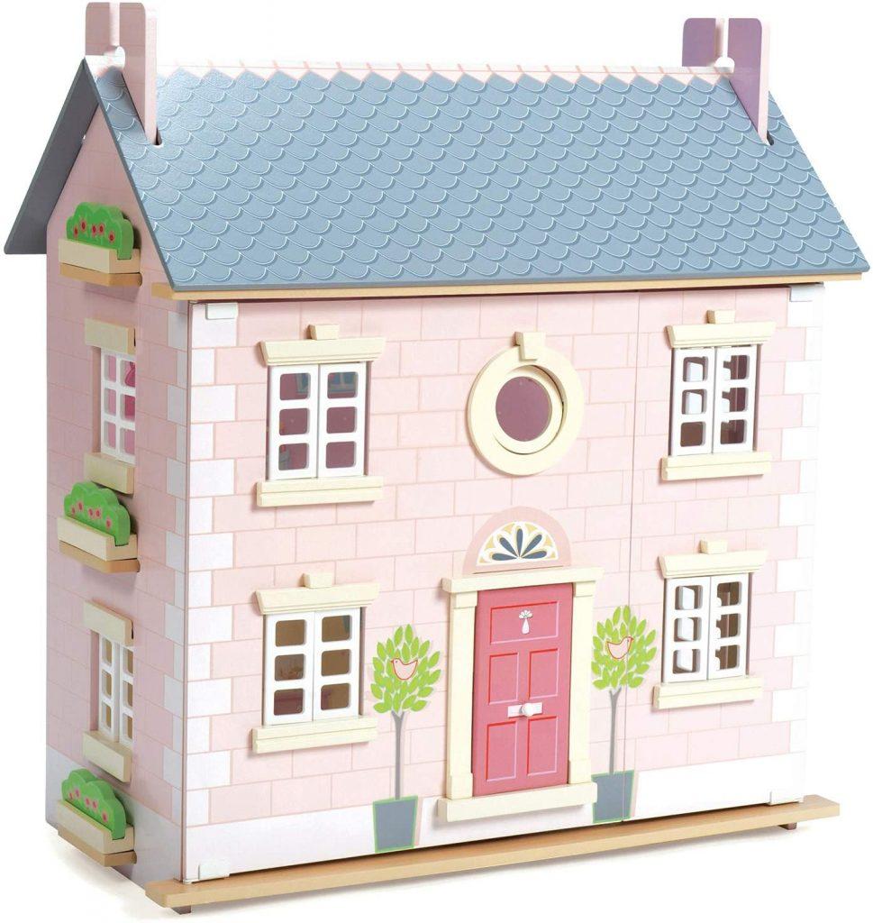 La maison de poupées Le Toy Van est constituée en bois de qualité.