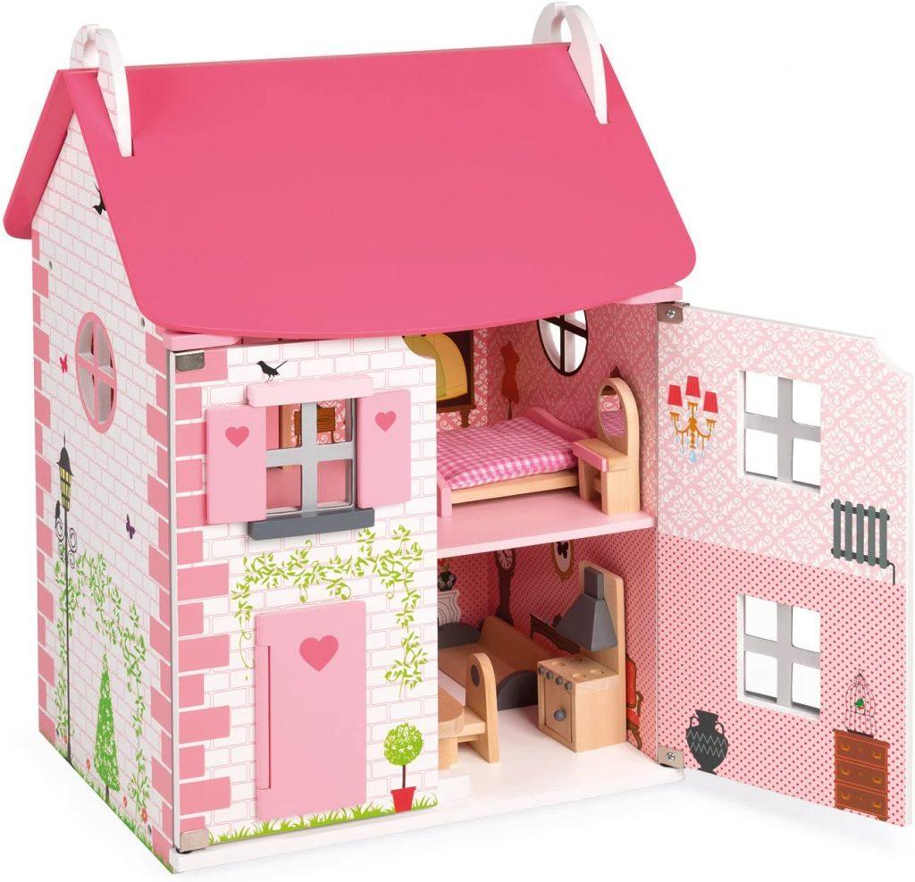 La maison de poupées Janod est livrée avec 11 accessoires.