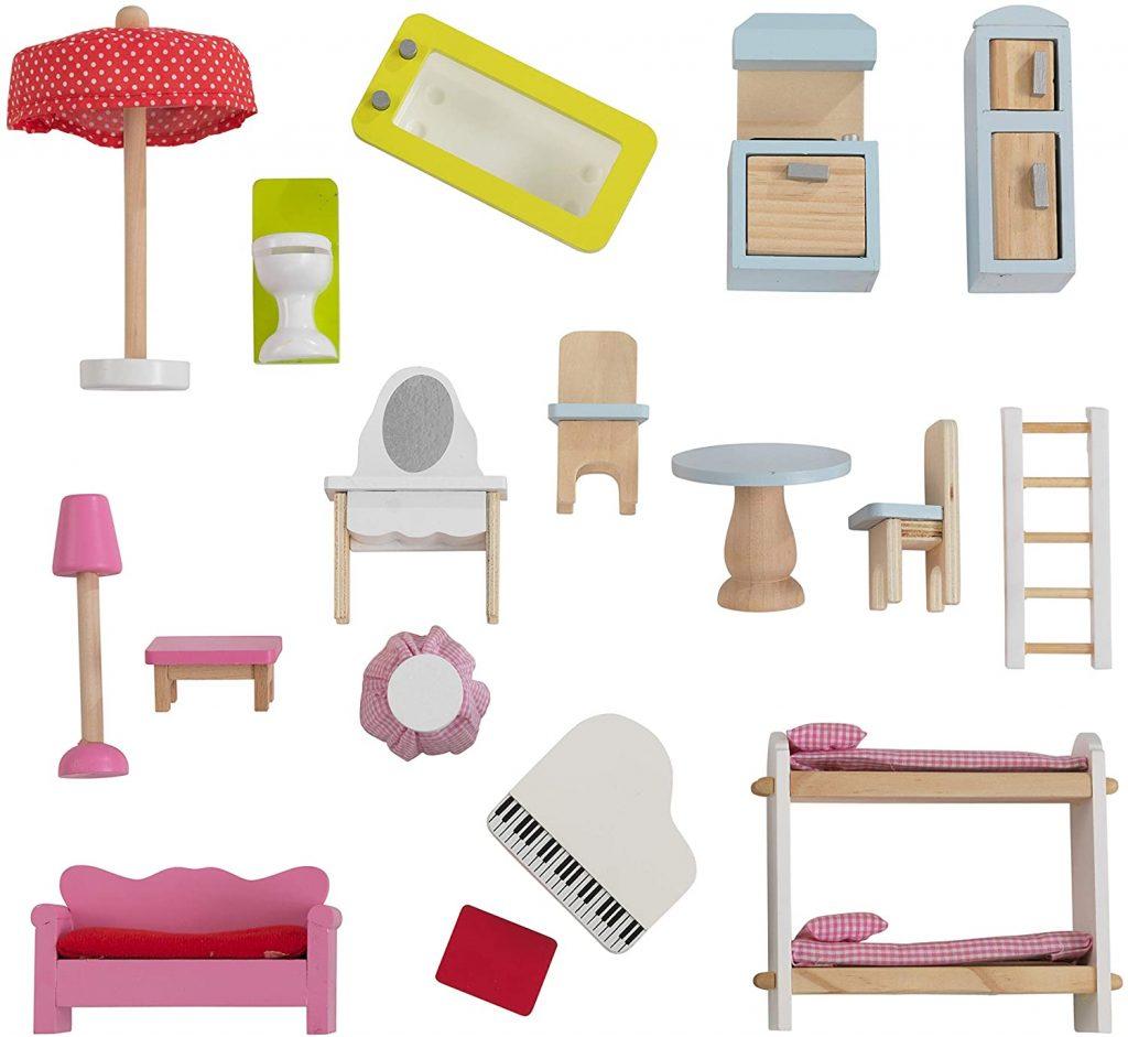 Les accessoires de la maison de poupées Chelsea sont de bonne qualité.