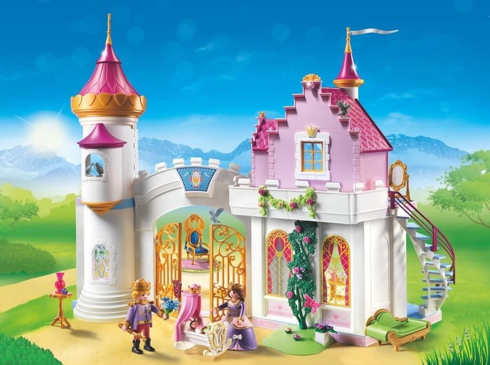 Le château de princesse Playmobil 6849 a un grande et belle tourelle.