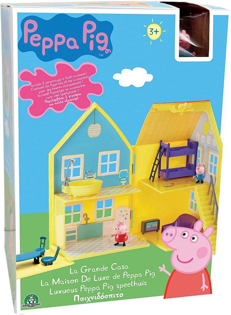 La grande maison Peppa Pig peut se transporter.