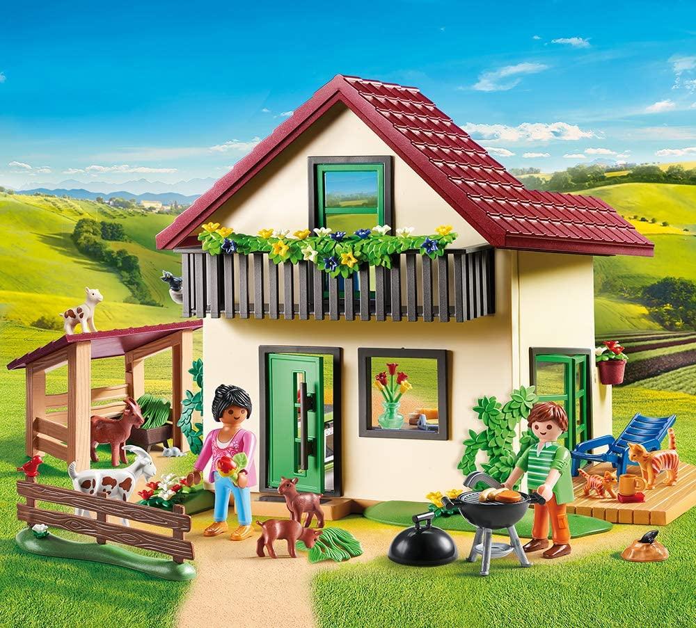 La maison de la ferme Playmobil peut s'utiliser dès 4 ans.