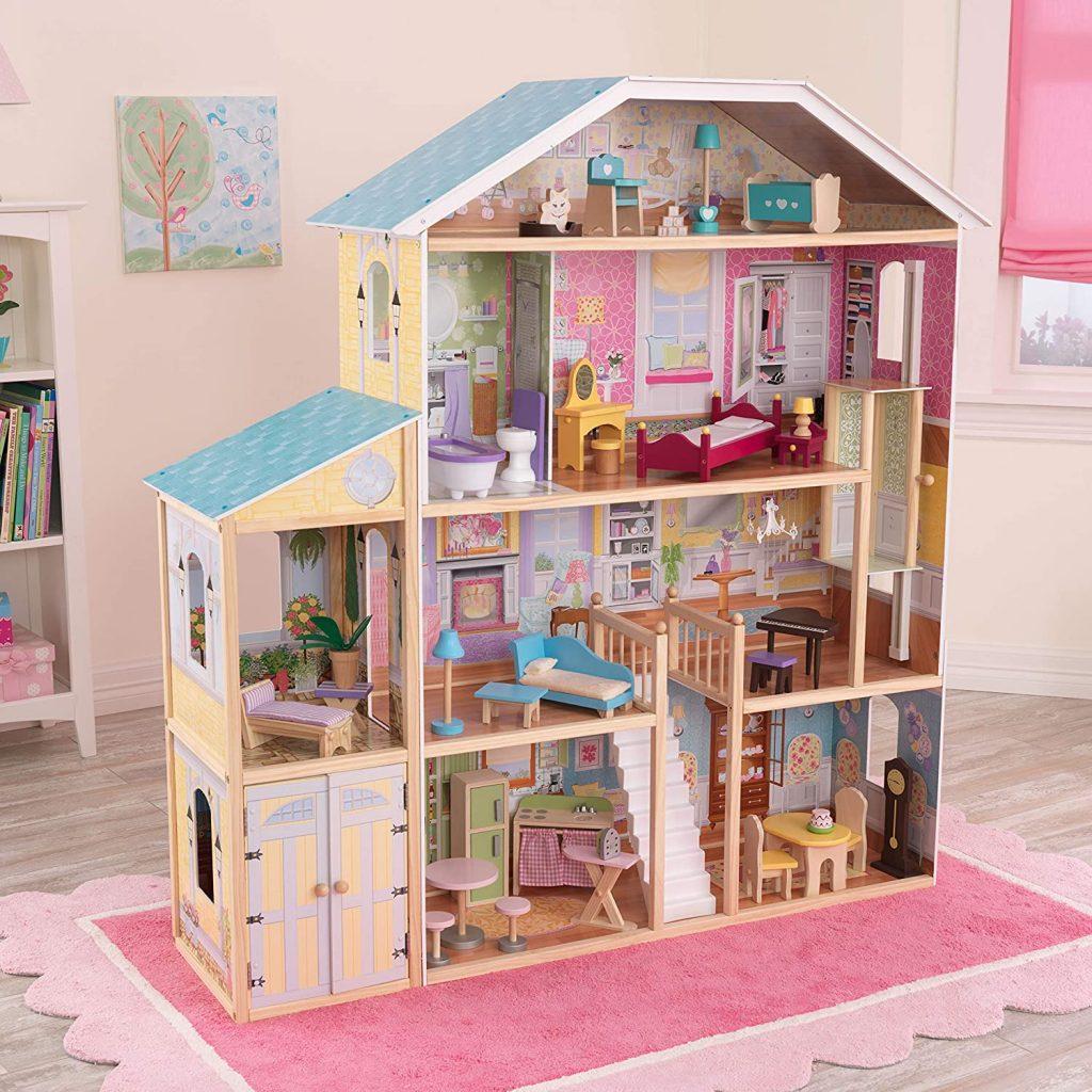 La maison de poupées en bois Majestic dispose de 8 pièces.
