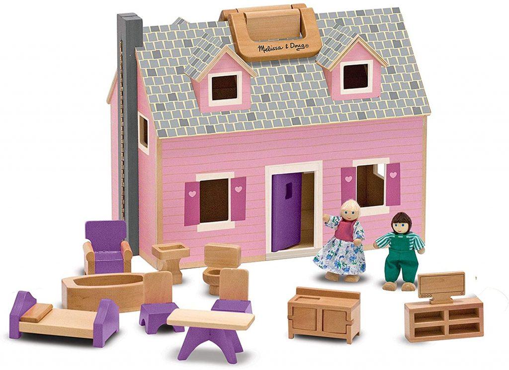 La maison de poupées en bois Melissa & doug est pliable.
