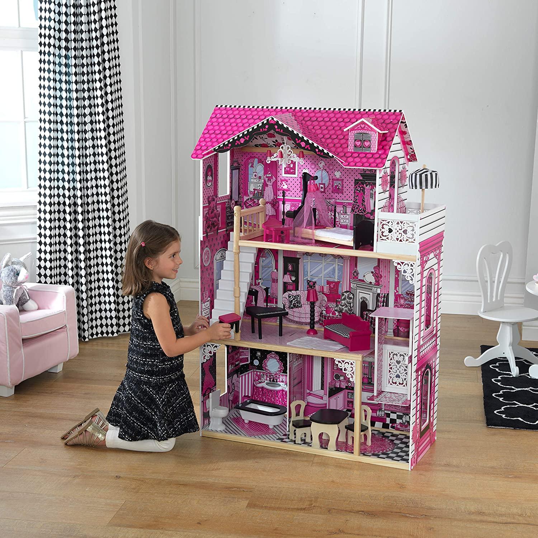 La maison Kidkraft Amelia dispose de 3 niveaux de jeu.