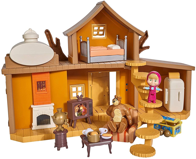 La maison Masha et Michka dispose de 2 niveaux de jeu.
