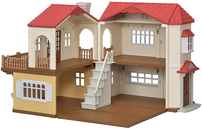 La grande maison Sylvanian Families permet de moduler l'agencement des pièces.