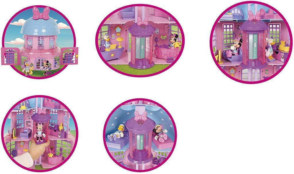 Minnie's house dispose d'un ascenseur central manuel.