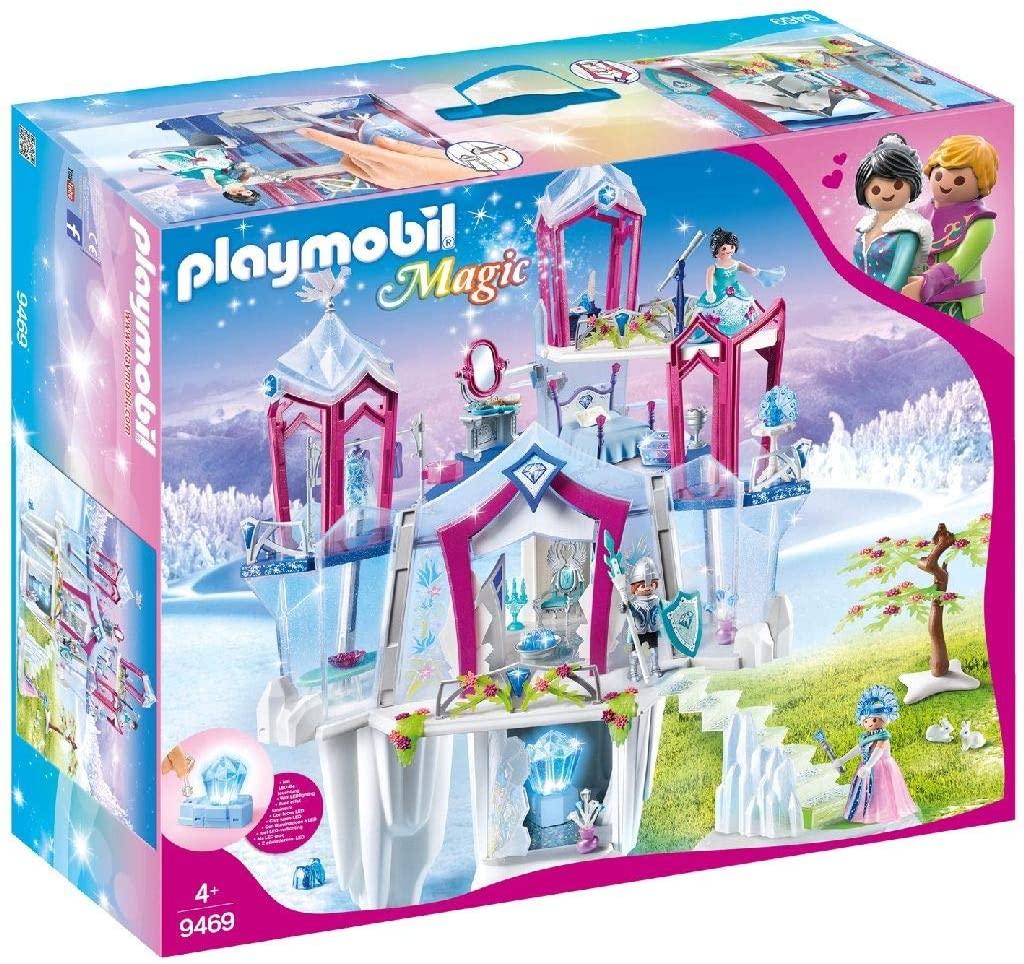 Le palais de cristal Playmobil 9469 s'illumine.